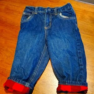 Carters Flannel Insulated Jeans